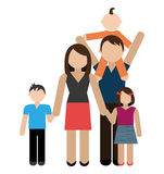 Family design, vector illustration. Stock Photography