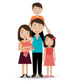 Family design, vector illustration. Royalty Free Stock Photo