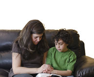 Family Devotional Time Royalty Free Stock Images