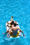 Family dinghy fun ride Stock Photo