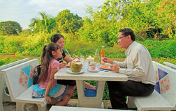 Family dining Stock Photography