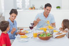 Family dining together Royalty Free Stock Image