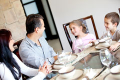 Family dinner Royalty Free Stock Images