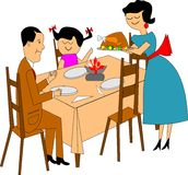 Family dinner vector illustration