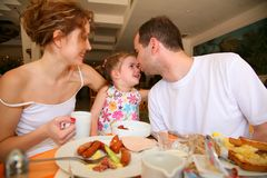 Family dinner. In the hotel Stock Photos