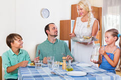 Family dinner Royalty Free Stock Photos
