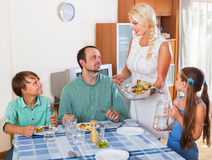 Family dinner Stock Photography