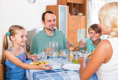 Family dinner Stock Images
