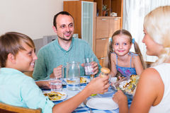 Family dinner at home Royalty Free Stock Image