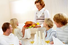 Family at dinner Royalty Free Stock Photography