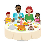 Family dinner table. Stock Image