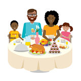 Family dinner table. Royalty Free Stock Photo