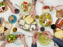 Family dinner Stock Images