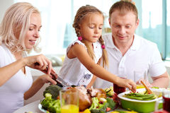 Family at dinner Royalty Free Stock Photo