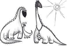 Family dinosaur Royalty Free Stock Image