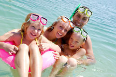 Family of divers Royalty Free Stock Photo