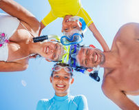 Family of divers Stock Images