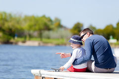Family at the dock Royalty Free Stock Images