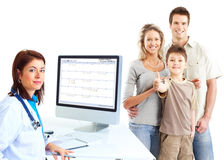 Family doctor royalty free stock image