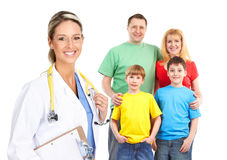 Family doctor Stock Image