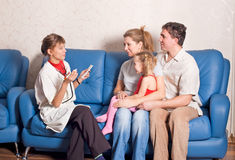 The family doctor. Gives consultations Royalty Free Stock Images