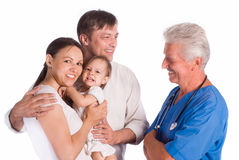 Family and doctor Stock Photos