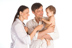 Family and doctor Stock Photography