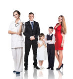 Family at the doctor appointment Stock Photography