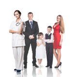 Family at the doctor appointment Royalty Free Stock Photography