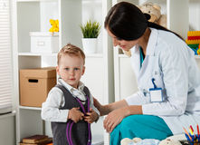 Family doctor examination Stock Images