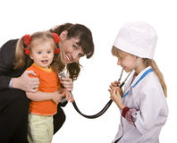 Family doctor and little girl. Stock Images
