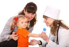Family doctor and little girl. Stock Photos
