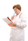 Family doctor with notepad Royalty Free Stock Photos