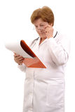 Family doctor with notepad Royalty Free Stock Photography