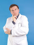 Family doctor pointing Stock Photos