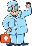 Family doctor. Smiling doctor with first aid kit Stock Photography