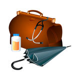 Family doctor survival kit Stock Images