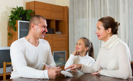 Family with documents Stock Image