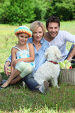 Family with dog Royalty Free Stock Photo