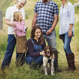 Family Dog Pet Happiness Togetherness Concept Stock Image