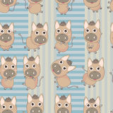 Donkey Striped Seamless Pattern_eps Royalty Free Stock Image