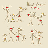 Family Doodles Stock Images