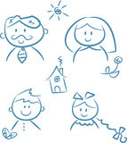 Family Doodles royalty free stock image