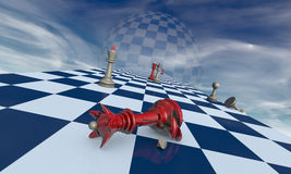 Family drama (chess metaphor) Stock Image