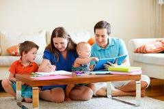 Family drawing Stock Photos