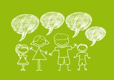 Family drawing Royalty Free Stock Images