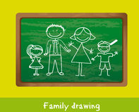 Family drawing Royalty Free Stock Image
