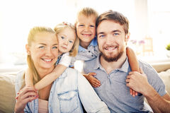 Family drawing Stock Photography