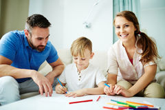 Family drawing Royalty Free Stock Photography