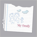 Family drawing Royalty Free Stock Photo